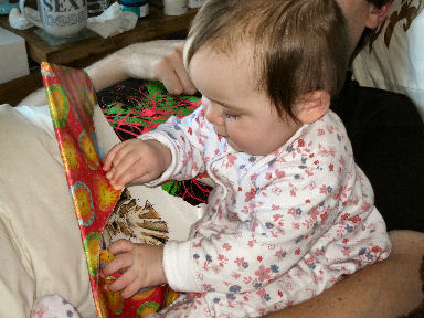 baby opening present
