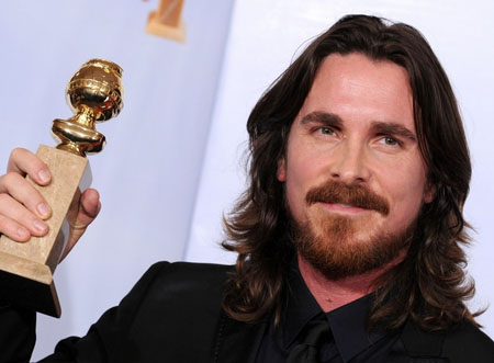 christian bale golden globes 2011 hair